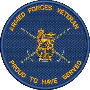 Armed Forces Veteran Proud to Serve Embroidered Badge